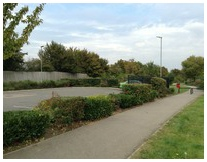Retail parks landscaping managed and  maintained by Marcus Young Landscapes Ltd