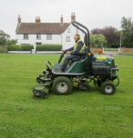 Grass cutting by Marcus Young Landscapes Ltd