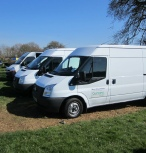 Vans used by Marcus Young Landscaping in Milton Keynes